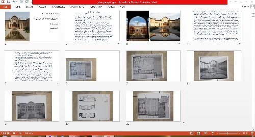 1763424 - پاورپوینت خانه طباطبایی ها و ورد معماری بیونیک